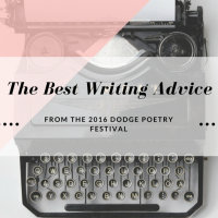 The Best Writing Advice From The 2016 Dodge Poetry Festival